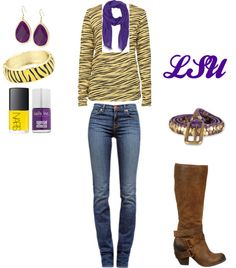 LSU Gurl, created by christy73 on Polyvore