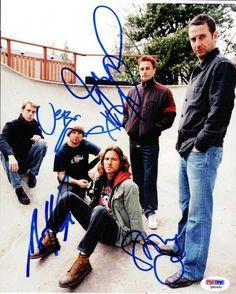 Jeff Ament, Stone Gossard, Mike McCready & Matt Camron Autographed 8x10 Photo Pearl Jam PSA/DNA