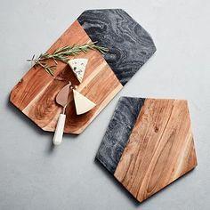 FEED Wood Slate Cheese Board #westelm