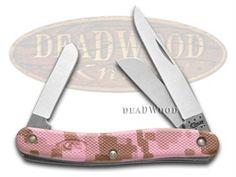 CASE XX Pink Camo Caliber Zytel Medium Stockman Stainless Pocket Knife - CA18324 | 18324 - 021205183244