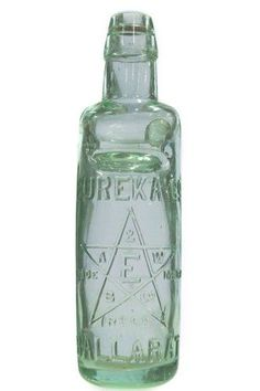 Codd - 13oz. all-way-pour - 'Eureka Co, Ballarat' - initials in star t/m - a magnificent example with only very… / MAD on Collections - Browse and find over 10,000 categories of collectables from around the world - antiques, stamps, coins, memorabilia, art, bottles, jewellery, furniture, medals, toys and more at madoncollections.com. Free to view - Free to Register - Visit today. #Bottles #CoddMarble #MADonCollections #MADonC Stoneware, Initials, Bottles, Mad, Coins, Stamps, Marble, Auction, Collections
