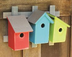 Excellent Housing Opportunities! Trellis Trio Birdhouse- 3 Fab Color Options