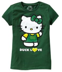 I'm not a Hello Kitty fan but this is pretty cute. Go ducks!