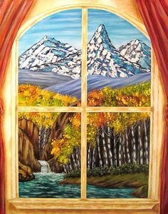 KEVIN FORD FINE ART- LOOKING OUT THE WINDOW-acrylic on canvas 22x28  www.kevinfordfineart.com