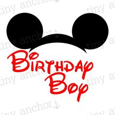 Hey, I found this really awesome Etsy listing at https://www.etsy.com/listing/242641788/red-mickey-mouse-ears-birthday-boy