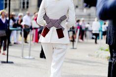 Paris – Grand Palais.  #PFW, #FashionWeek, #France, #FW15, #HauteCouture, #Moda, #Mode, #Paris, #Street, #StreetStyle, #Style, #Woman, #Women Photo © Wayne Tippetts