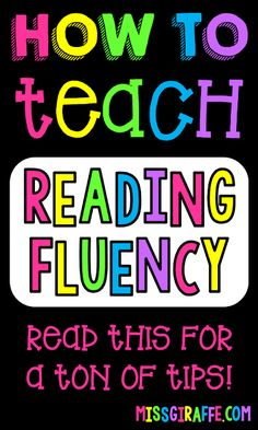 for Building Reading Fluency Amazing tips for how to teach reading fluency strategies, activity ideas, and so much more!Amazing tips for how to teach reading fluency strategies, activity ideas, and so much more! Verb Activities For First Grade, Reading Fluency Activities, First Grade Reading Comprehension, Teaching Reading, Teaching Tips, Reading Tutoring, Fluency Practice, Reading Help, Spelling Activities