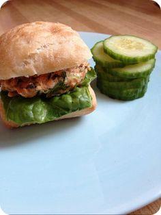 thai salmon burger sliders