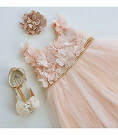 ADORE! <3 Le Pink Fairy Princess Sleeveless Girls Fancy Dress in Peach