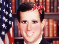 Mor on Rick Santorum with a bit of makeup...     Watch for Free Full Movies Online   www.YouTube.com/antonpictures
