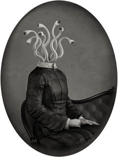 Danny van Ryswyk is a surreal artist who creates dark, imaginary computer-generated artworks using two-and three-dimensional software. Inspired by themes like absurdity, melancholy and Victorian portraiture Ryswyk creates these mysterious portraits.