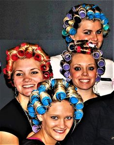 Sleep In Hair Rollers, Hair Curlers Rollers, Hot Rollers, Two Toned Hair, Roller Set, High Roller, Perm Rods, Fantasy Hair, Curled Hairstyles