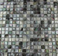 home decoration sea shell mosaic mother of pearl  tiles  black and grey natural mesh-joint with seam hot sale free shipping
