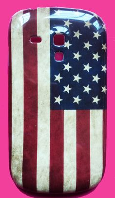 "Samsung Galaxy S3 Mini i8190 hardcase ""USA RETRO""' hoesje - achterkantje met amerikaanse vlag -Koekiedoo"