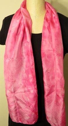 Pink Silk Scarf by WhiteWingScarves on Etsy, $30.00