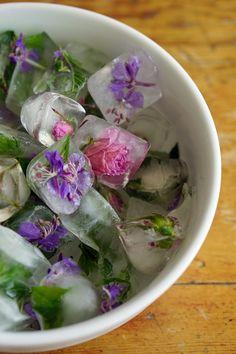 Flower ice cubes - Party al fresco