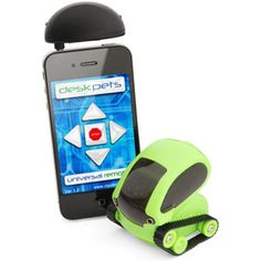 Smartphone Controlled Desk Pet Tankbots - Control a robot with your iPhone or Android phone  Can navigate a maze all by itself in automatic mode  Advanced optical navigation technology in a tiny package