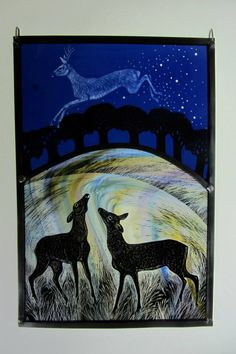 """Spirit Stag"" by stained glass artist, Tamsin Abbott"