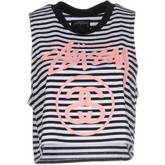 Stussy Top ($71) ❤ liked on Polyvore featuring tops, black, sleeveless tops, stussy, black top and black sleeveless top