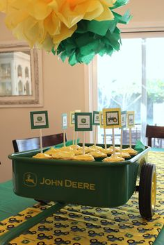John Deere Party. Cute menu for party...