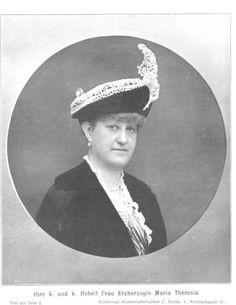 Archduchess Maria Theresia of Austria (1862-1933) the wife of Archduke Karl Stephan of Austria.