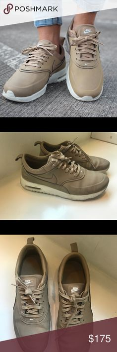 Nike Air Max Thea- Desert Sand Used Air Max thea premium leather sneakers in desert camo. Great condition, some signs of wear Nike Shoes Sneakers