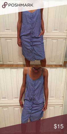 Zara Long Denim Dress Button down Denim Dress Zara Dresses
