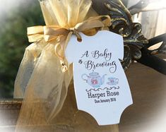 Tea Party Baby Shower Favor   A baby is Brewing Baby Shower Favor   Baby Shower Favor   Tags ONLY or Tags/Bags (Tea not included)oftTEA1