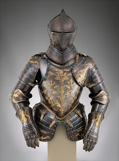 This is one of a set of twelve matching armors for use in foot combat commissioned in 1591 by Sophie of Brandenburg as a Christmas gift for her husband, Christian I (reigned 1586–91). These armors are among the last commissions of Anton Peffenhauser, the leading Augsburg armorer during the second half of the sixteenth century