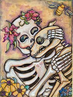 Hiking with Your Dog: Tailor this Fun Activity for Any Dog, Any Place Mexican Skeleton, Dog Skeleton, Skeleton Tattoos, Skeleton Makeup, Mexican Skulls, Skull Makeup, Dog Skull, Sugar Skull Art, Sugar Skulls