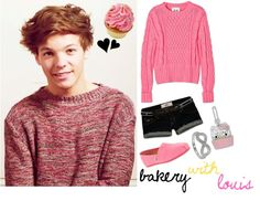 """2) Bakery With Louis"" by my-one-direction-outfits on Polyvore"