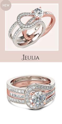 Interchangeable Herakles 2-tone Round Cut White Sapphire Rhodium Plated 925 Sterling Silver Women's Ring#jeulia