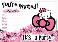 Hello Kitty Printable Birthday Invitations Birthday Invitation For