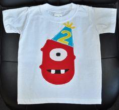 Yo Gabba Gabba birthday shirt by Fit For A Prince.