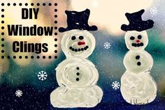 Green Owl Art: DIY Winter Window Clings