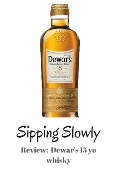 Review for the Dewar's 15 yo blended whisky. Blended Whisky, Whiskey Bottle, Food, Essen, Meals, Yemek, Eten