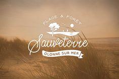 Badge vintage de le plage de Sauveterre d'Olonne sur Mer. Illustrations, Creations, Vintage, Home Decor, Drill Bit, The Beach, Graphic Design, Decoration Home, Room Decor