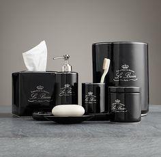 Bathroom Accessories Restoration Hardware kassatex bath accessories, le bain collection - bathroom