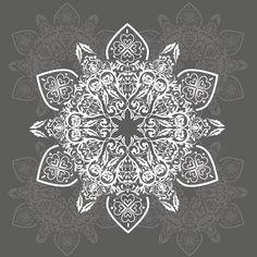 Sticker table basse Lack 55x55 Gray Arabesco