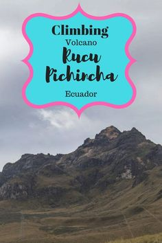 Rucu Pichincha is a active volcano in Quito, Ecuador. The volcano Rucu Pichincha is over 4780 meters above the sea! Quito is already on 2850 meters.
