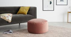 Lux Velvet floor cushion, Blush Pink Velvet | MADE.com Mid Century Living Room, Home Living Room, Velvet Cushions, Floor Cushions, London Apartment, Pink Velvet, Or Antique, Soft Furnishings, Blush Pink