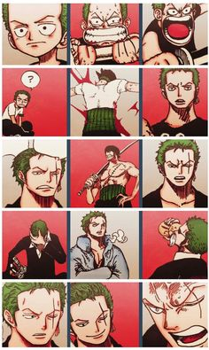 Roronoa Zoro : person who knows how to get lost in every situation but still want to look cool