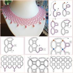 pink fabric chain with outline pink fabric chain with outline Beading Patterns Free, Seed Bead Patterns, Beading Tutorials, Diy Necklace Patterns, Beaded Jewelry Patterns, Beaded Crafts, Jewelry Crafts, Jewelry Art, Jewelry Accessories