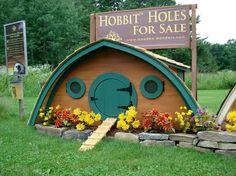 Hobbit Holes for Sale - Coolest shed ever.