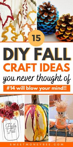 Fall Crafts For Adults, Fall Arts And Crafts, Easy Fall Crafts, Crafts For Seniors, Fall Diy, Holiday Crafts, Diy Crafts To Do At Home, Fun Diy Crafts, Fall Decorations