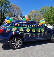 Try out this new party idea by decorating cars for different themed celebrations such as birthdays and graduations using 1 supplies from Dollar Tree Graduation Party Themes, Graduation Decorations, Graduation Party Decor, Grad Parties, Preschool Graduation, Graduation Ideas, Dollar Tree Decor, Diy Birthday Decorations, Party Time
