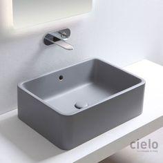 Rectangular on top washbasin 60 colored Brina Shui - Wash basin colored bathroom Ceramica Cielo