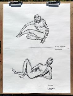 2015 Figure Drawing - Citrus College Gesture Drawing (3 of 3), 5 min. poses Model: Leslie Finally, the model did five poses, 5 min. each (these are the fourth and fifth), for us to make more gesture drawings in pen and ink, basically trying to capture the essence of the pose in a pretty loose sketch. #arielsartwork #figuredrawing #citruscollege #markwessel #art #drawing #gesture #gesturedrawing #bodylanguage #pose #anatomy #lifedrawing #sketch #model #modeldrawing #pen #ink