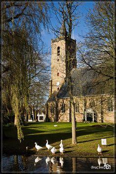 Hervormde kerk Dirksland aan de Kerkring (Goeree-Overflakkee, the Netherlands)