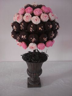 Cupcake topiary.. Amazing!
